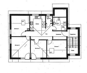 Grundriss 4-Zimmer Wohnung - Ferienwohnung im Dorf
