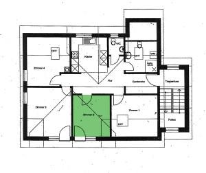 Grundriss Zimmer 2 - Ferienwohnung im Dorf Gschlachtenbretzingen