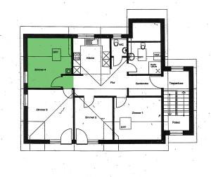 Grundriss - Zimmer 4 - Ferienwohnung im Dorf Gschlachtenbretzingen
